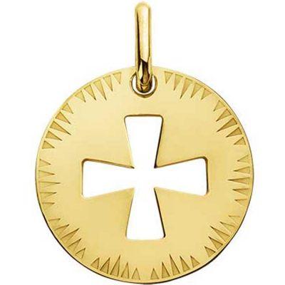 Médaille ajourée Croix de Malte (or jaune 750°  par A.Augis