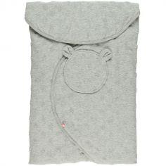 Couverture nomade en jersey gris clair Mix et Match (0-9 mois)
