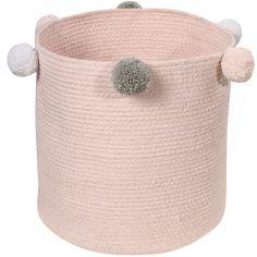 Panier de rangement Bubbly en coton rose (30 x 30 cm)