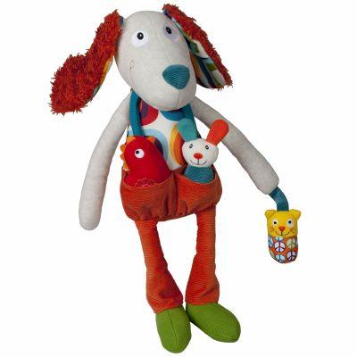 Antoine le chien d'activités La Happy Farm (45 cm)  par Ebulobo