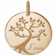 Médaille de naissance Louis personnalisable 18 mm (or jaune 750°)