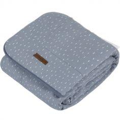 Couverture bébé en coton pure & soft Blue sprinkles (70 x 100 cm)