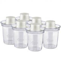 Lot de 6 pots de conservation pour lait en poudre (260 ml)