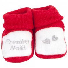 Chaussons Premier Noël (0-1 mois)