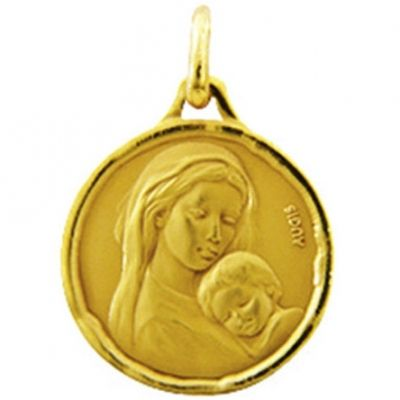 Médaille ronde Maternité 18 mm (or jaune 750°)
