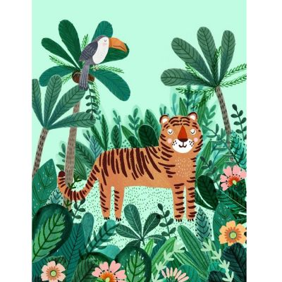 Affiche Tigre dans la jungle (50 x 70 cm) Petit Monkey