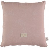 Coussin carré Descartes White bubble Misty pink (38 x 38 cm) - Nobodinoz
