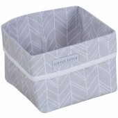 Panier de toilette Grey leaves (15 x 15 cm) - Little Dutch