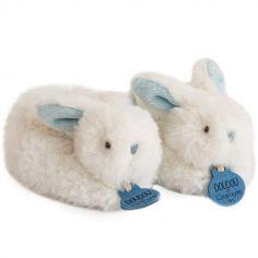 Coffret chaussons hochet Mon tout petit lapin bleu (0-6 mois)