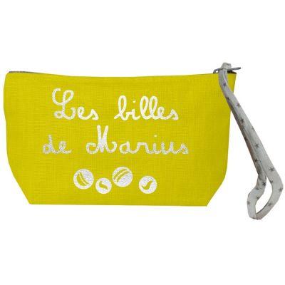 Pochette à billes jaune (personnalisable)  par Les Griottes