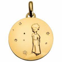 Médaille Le Petit Prince sur sa planète 18 mm (or jaune 750°)  par Monnaie de Paris