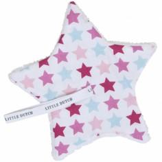 Doudou attache sucette Mixed Stars Pink
