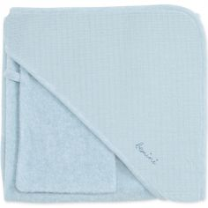 Cape de bain + gant Cadum bleu breeze (90 x 90 cm)