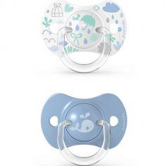 Lot de 2 sucettes symétriques SX PRO Memories bleu (18 mois et +)
