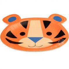 Lot de 8 assiettes en carton Ziggy le tigre