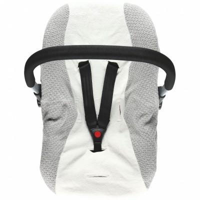 Housse pour siège auto bébé gris clair Tricoloudoux  par Noukie's