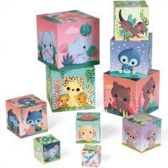10 cubes à empiler les animaux tout mignons