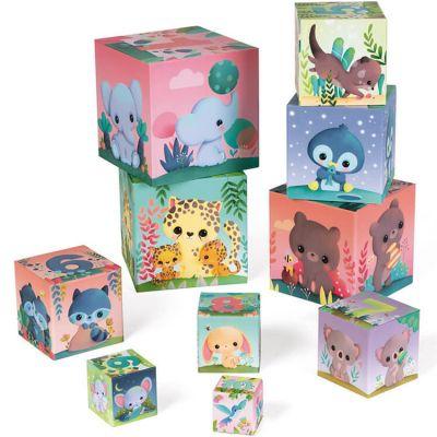 10 cubes à empiler les animaux tout mignons  par Janod
