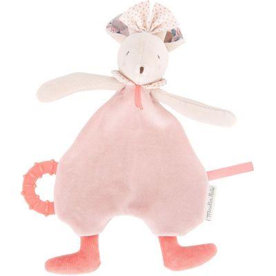 Doudou de dentition souris rose Il était une fois  par Moulin Roty