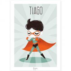 Affiche A3 Super-héros (personnalisable)