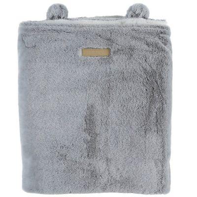 Couverture polaire gris clair Mix & Match (75 x 100 cm)  par Noukie's