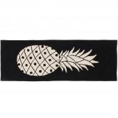 Tapis lavable ananas noir et blanc (80 x 230 cm) - Lorena Canals