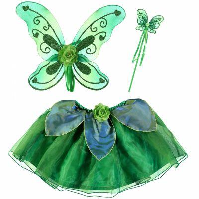 Set de déguisement fée papillon vert