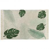 Tapis lavable Tropical Green sur fond écru (140 x 200 cm) - Lorena Canals