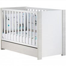 lit barreaux opale blanc avec son tiroir 60 x 120 cm par sauthon easy. Black Bedroom Furniture Sets. Home Design Ideas