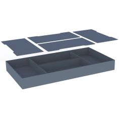 Tiroir de lit multifonctions Léo Silex (70 x 140 cm)
