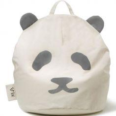 Pouf géant panda gris (80 x 110 cm)