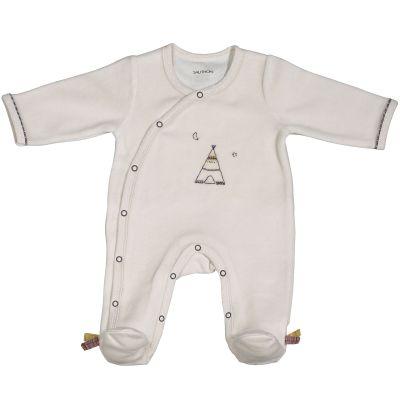 Pyjama chaud Timouki beige (1 mois)  par Sauthon