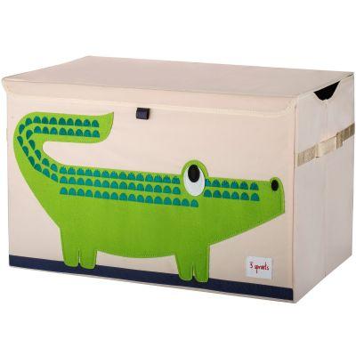Coffre à jouets caisse de rangement Crocodile  par 3 sprouts