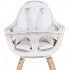 Coussin de chaise haute Evolu éponge pois dorés