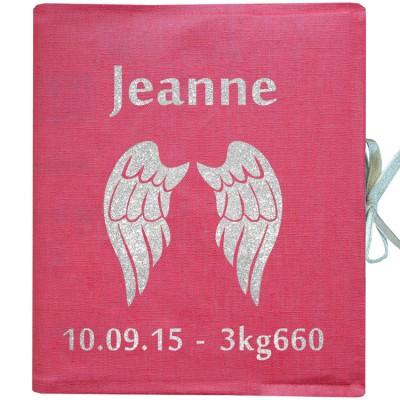Album photo naissance personnalisable rose (126 pages)  par Les Griottes