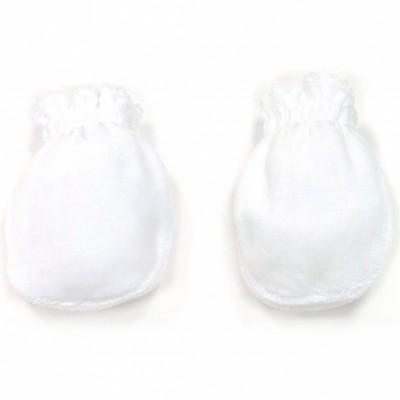 Moufles de naissance velours en coton blanc  par Cambrass