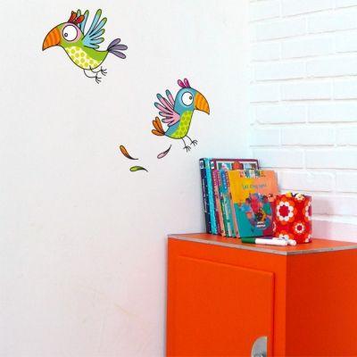 Stickers muraux les perroquets  par Série-Golo