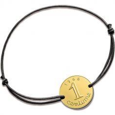 Bracelet cordon Centime épi 1968 (or jaune 750°)