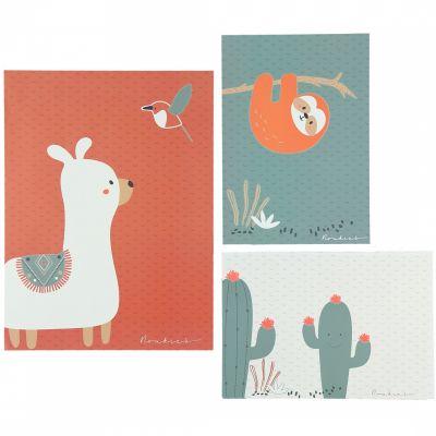 Lot de 3 affiches Moris & Sacha (30 x 40 cm et 21 x 30 cm)  par Noukie's