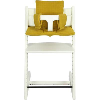 Coussin de chaise haute Tripp Trapp de Stokke Bliss jaune moutarde  par Les Rêves d'Anaïs