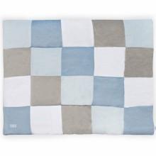 Tapis de jeu patchwork bleu et gris (100 x 140 cm)  par Jollein