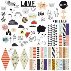 Stickers Happy pin board