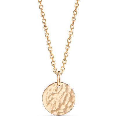 Personnalisableplaqué Martelée Collier Médaille Petite Or mv0N8wn