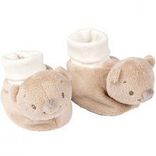 Chaussons peluches Basile l'ours  par Nattou