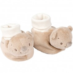 Chaussons peluches Basile l'ours