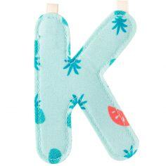 Lettre en tissu à suspendre K (9,5 cm)
