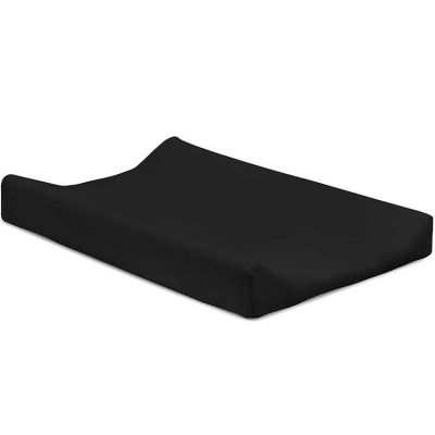 Housse de matelas à langer double jersey noir (50 x 70 cm)