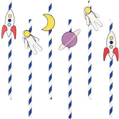 Lot de 12 pailles en papier Cosmic  par My Little Day