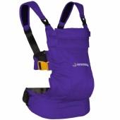 Porte bébé ventral et dorsal Dynamic en coton violet - Minimonkey