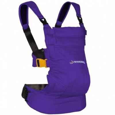 Porte b b ventral et dorsal dynamic en coton violet par minimonkey - Porte bebe ventral et dorsal ...